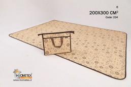 hometex large cream camping mat flower design