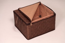hometex dark brown clothing box with frame open