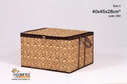 hometex medium cream clothing box with frame