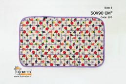 hometex small dish drying mat fruit design