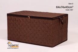 hometex large dark brown frameless clothing box