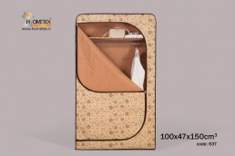 hometex cream flower hanging wardrobe open