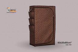 hometex dark brown shelf wardrobe g design