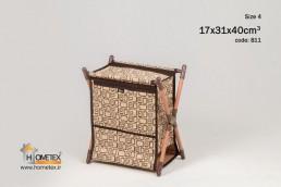 hometex large square design x-basket organizer